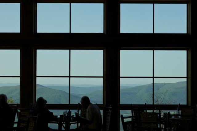 View from Mt. Magazine Lodge dining room.