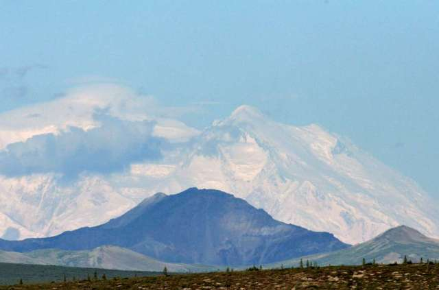 Mt. McKinley from 70 miles away on the Park Road