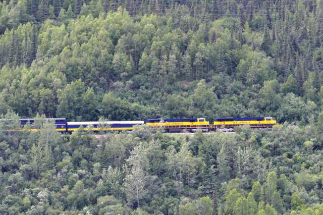 Alaska Railroad in Denali