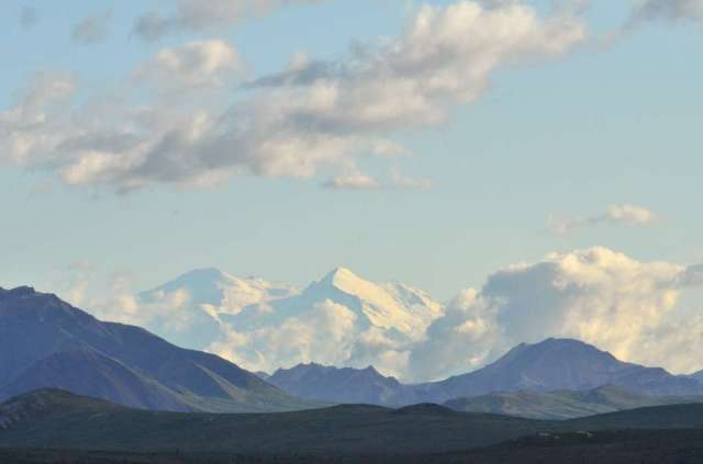 Mt. McKinley, called Denali by the natives.