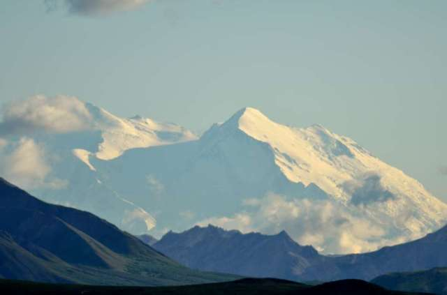 Mt. McKinley, called Denali by the natives. From 75 miles away.