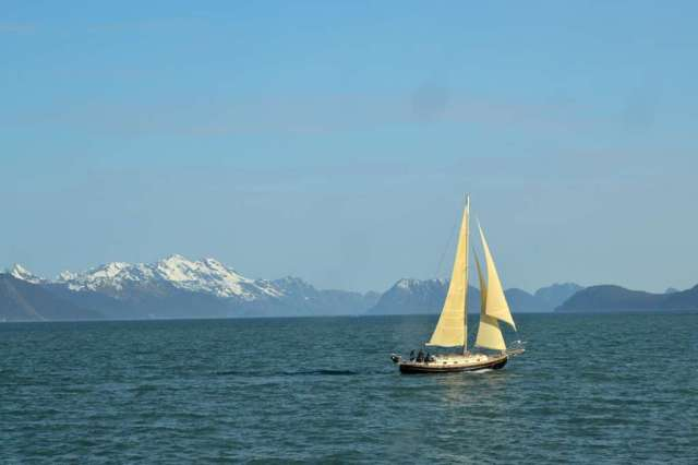 A Sailing Ship on Resurrection Bay at Seward, AK.