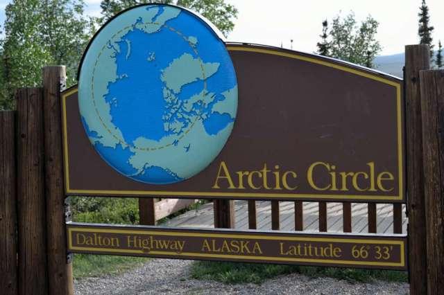 arctic circle signpost