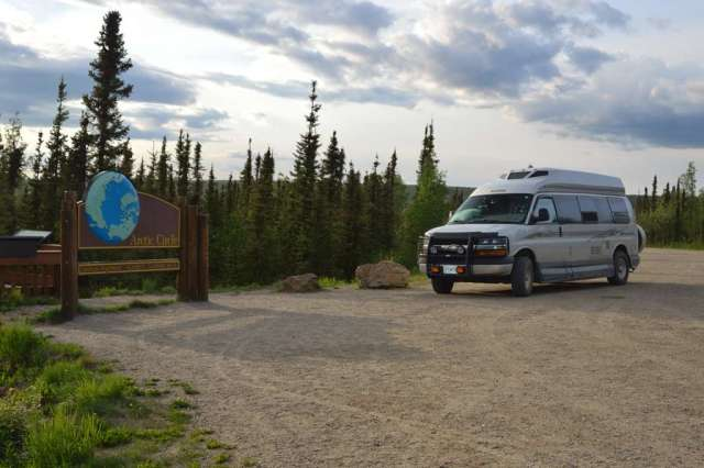 Roadtrek at the Arctic Circle