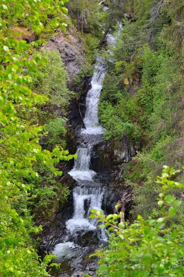 Cooper Landing area waterfall