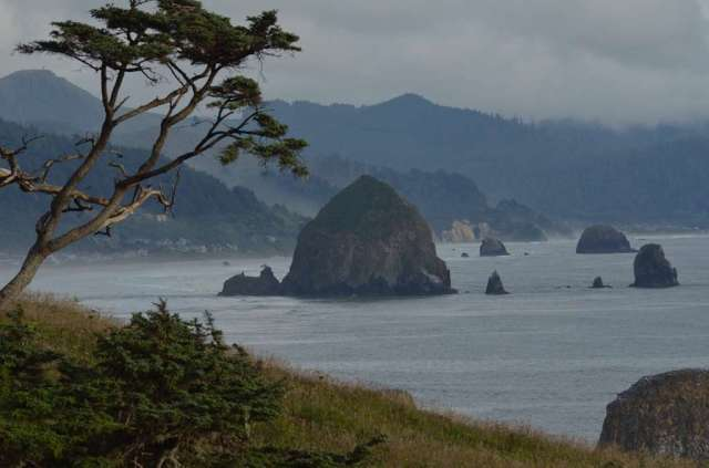 Cannon Beach Haystack from Ecola State Park