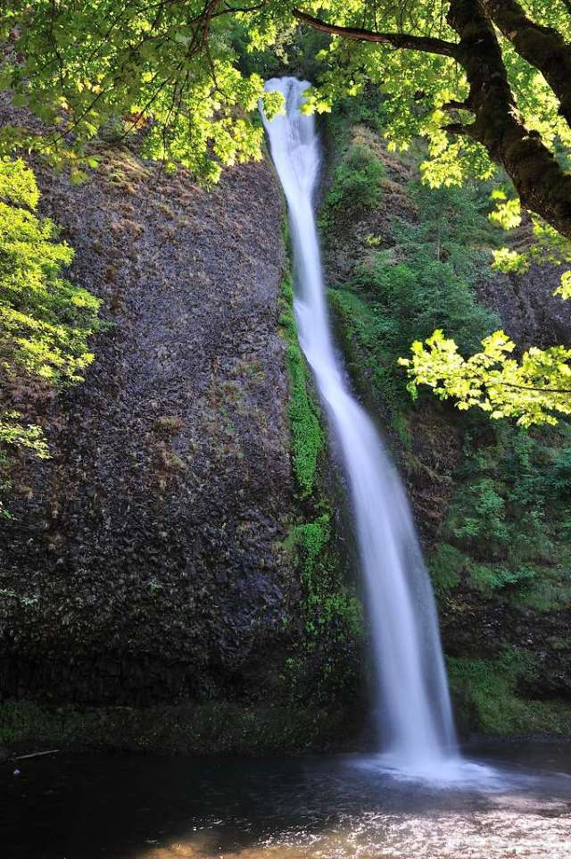 Horsetail Falls, along U. S. Highway 30 in Oregon.