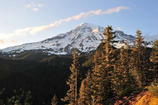 Mt. Rainier in Washington.