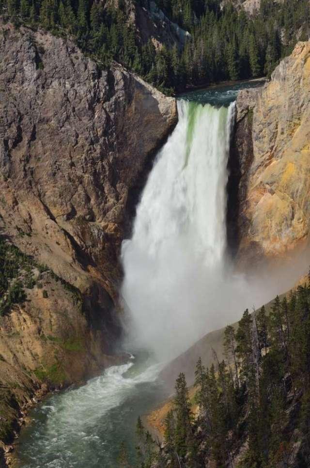 Yellowstone Falls at Yellowstone NP