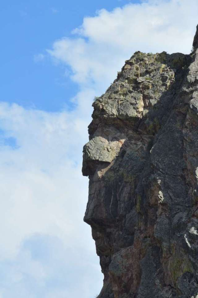 Profile rock in Colorado