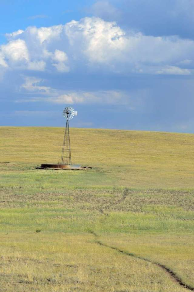 Windmill on the Wyoming prairie