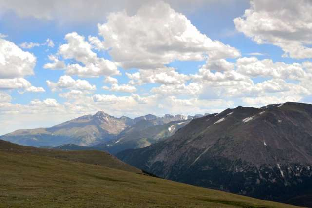 A view of the Rockies from close to the top of Long's Peak.