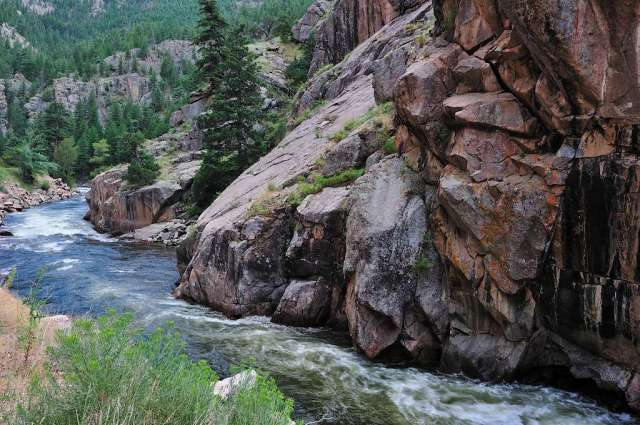 Bluffs along the Poudre river in Colorado