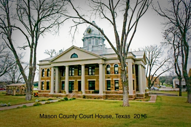 Mason County Court House in Mason, Texas. Built about 1910.